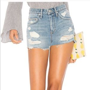 Lovers + Friends Jack High Rose Cut Off Shorts